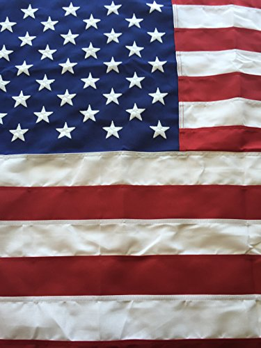 (Best Commercial Grade Polyester American Flag 8'x12' US Flag Made in the USA Embroidered Stars Sewn Stripes by Flags Poles And More,Red, White, and Blue)