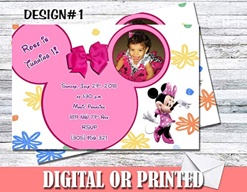 Minnie Mouse Bowtique Personalized Birthday Invitations More Designs -