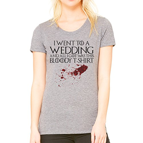I Went To A Wedding And All I Got Was This Bloody T shirt Funny Design Damen T-Shirt