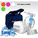 Omnibus BR-CN116B - Nuevo inhalador Aparato para inhalación de medicamentos líquidos con compresor Nebulizador (Verde)