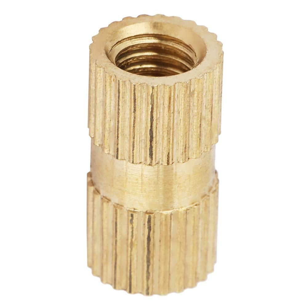 M5207.3(10pcs) Blind Knurled Nut 5mm Closed End Inlay Knurled Copper Nut Fastener Accessory Embedded Knurled Nut Set Knurled Nut
