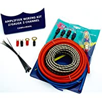 Caliber Premium OFC Amp Wiring Kit 10/8/6 Gauge Perfect for Car Audio Amplifier Installation 2 Channel - 10ga