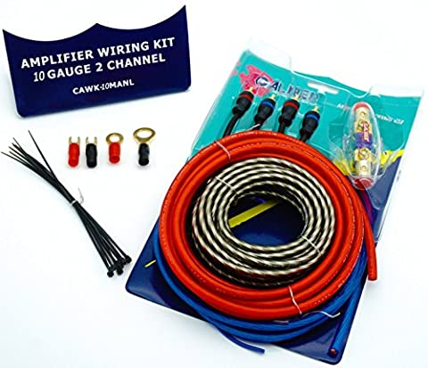 Caliber Premium OFC Amp Wiring Kit 10/8/6 Gauge Perfect for Car Audio Amplifier Installation 2 Channel - (Ofc 8 Gauge Amp Kit)