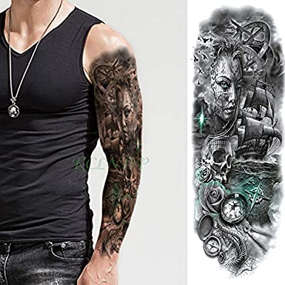 ljmljm 3pcs Tatuaje Impermeable Etiqueta de Dibujos Animados del ...