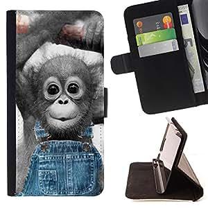 - Blue Abstract - - Prima caja de la PU billetera de cuero con ranuras para tarjetas, efectivo desmontable correa para l Funny HouseFOR Apple Iphone 6