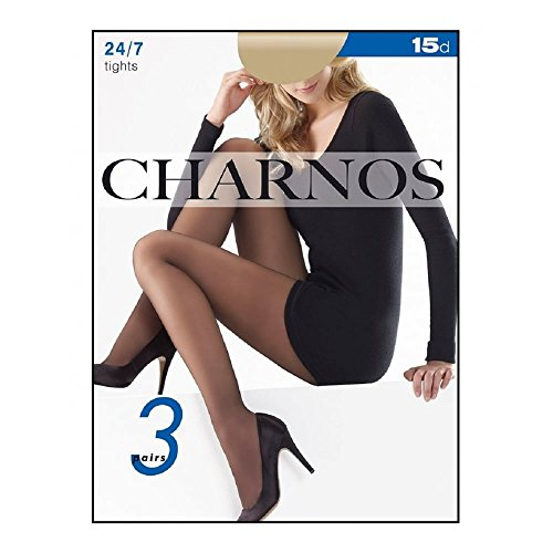 Charnos Women's 24-7 Pantyhose - 3 pair pack sherry Large
