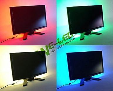 Suntec multicolore rgb cm cm led striscia luce tv led