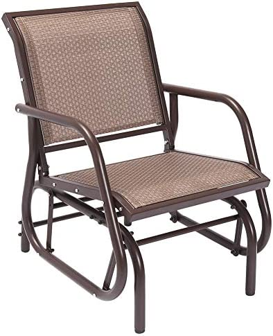 Superjare Outdoor Swing Glider Chair