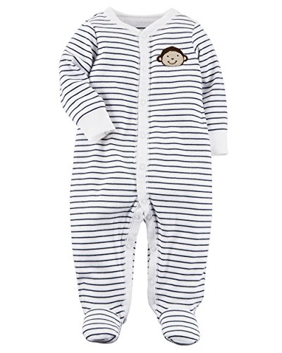Carter's Baby Boys' Monkey Button Up Cotton Sleep