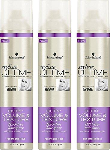 3 Pack of Schwarzkopf Styliste Ultime Biotin+ Volume Hair Spray, 10 oz ea