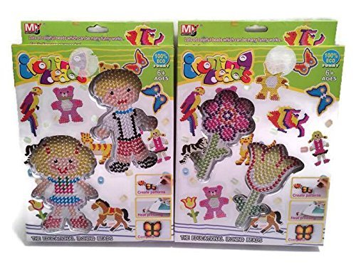 Educational Toys Ironing Beads funny table games plastic toy handmade 2 sets (Noisy Boy Halloween Costume)