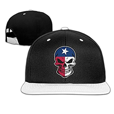 AJHGD Texas Flag Skull-1 Unisex Hiphop Flat Brim Snapback Hats Adjustable Baseball Cap Hats for Girls