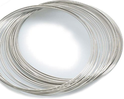 Beading Station 30-Circle Silvertone Rigid Steel Necklace Memory Beading Wire for Jewelry (Rigid Wire)