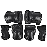Protective Gear, iTECHOR 6Pcs S/M Size Sport Safety Protective Body Gear Set for Skating/Bicycling/Bicycling/Outdoor activities