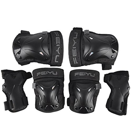 Protective Gear Set, PeleusTech Adult/Child Knee Pads Elbow Pads Wrist Guards 3 In 1 Protective Gear Set For Multi Sports Skateboarding Inline Roller Skating Cycling Biking Bicycle Scooter - size M by PeleusTech®