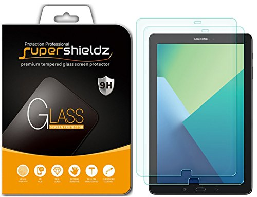 [2-Pack] Supershieldz for Samsung Galaxy Tab A 10.1 (S Pen Version SM-P580/SM-P585) Screen Protector, [Tempered Glass] Anti-Scratch, Anti-Fingerprint, Bubble Free, Lifetime Replacement Warranty
