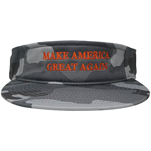 Donald Trump Visor, Make America Great Again - Quality Embroidered 100% Cotton Visor Cap - Urban Camo (Cotton Embroidered Visor)