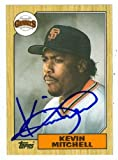 Kevin Mitchell autographed baseball card (San Francisco Giants) 1987 Topps #81T Traded Set