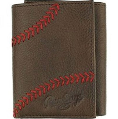 Rawlings Men's Home Run Trifold Wallet, Brown, OS