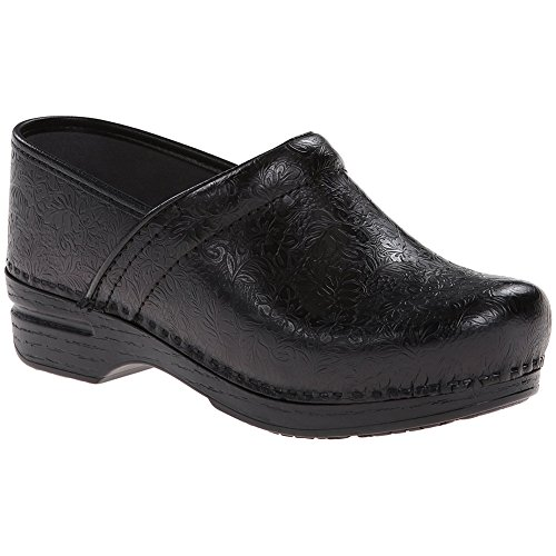 Image of Dansko Stylish Pro XP Women Mules & Clogs Shoes, Elegant Footwear, Black�Floral�Tooled, Size - 40