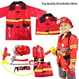 Liberty Imports Kids 12 Piece Fireman Gear