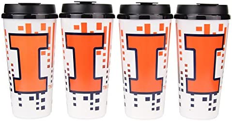 Whirley Drink Works NCAA 32oz Large Tailgate Cups w//Lids 4-Pack