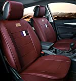 A&S 19005 Compatible Universal Full Front Rear PU Fabric Car Seat Cushion Cover Fit Protection (Red)