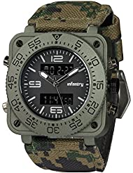 INFANTRY Big Face Mens Military Watch Camo Tactical Wrist Watches for Men Heavy Duty