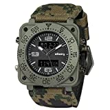 INFANTRY Mens Big Face Camo Tactical Military Multifunction Analog Quartz Sport Camouflage Wrist Watch