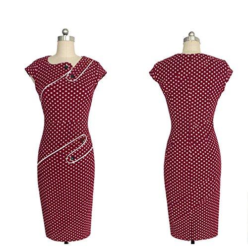 Leezeshaw - Vestido - para mujer Rosso