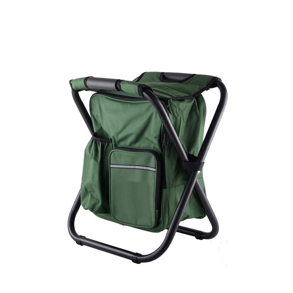 vert  TL Chaise de Plage Pliante Tabouret portable avec Sac de préservation de la Chaleur Tabouret de pêche arrière Chaise de Plage Tabouret d'extérieur Chaise de Camping,noir