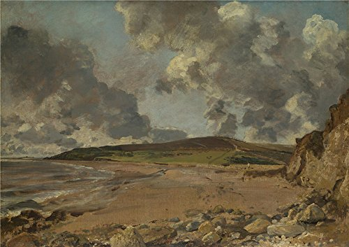 'John Constable Weymouth Bay Bowleaze Cove And Jordon Hill ' Oil Painting, 30 X 42 Inch / 76 X 108 Cm ,printed On Perfect Effect Canvas ,this Best Price Art (Marvel 108 Bottle)