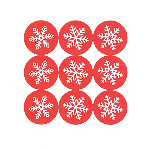 180 pcs 1.38 Inch Round Circle Kawaii Snowflakes Label Stickers Envelope Bag Seals Decorations Ornaments Party Supplies (20 Sheets) by Shxstore