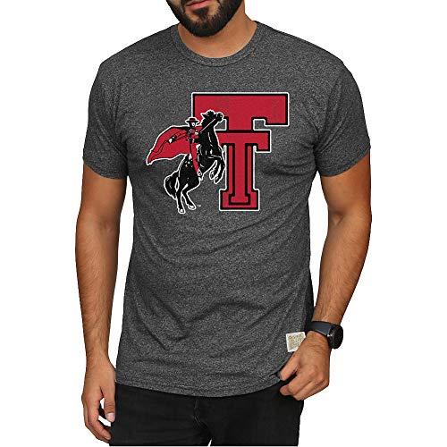 Elite Fan Shop Texas Tech Red Raiders Retro Tshirt Charcoal - L