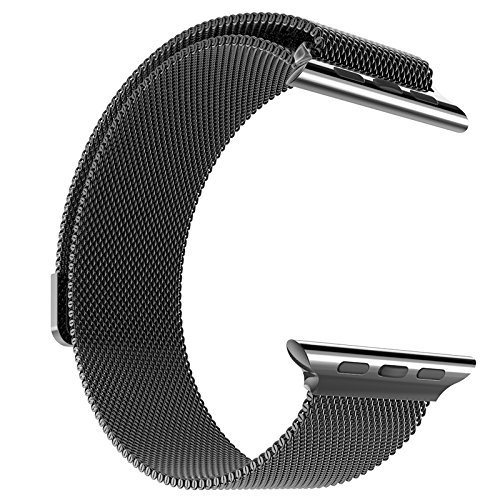 Probrother Apple Watch Band Steel Milanese Loop Replacement Wrist Band with Plated Case for Apple Watch