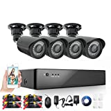 Anlink 8-Channel HD 720p Security Camera System DVR and 4 x 1.0 MP 720P(1280TVL) Night Vision Indoor Outdoor Waterproof CCTV Bullet Cameras with Crystal Images and Motion Detection(NO HDD) For Sale