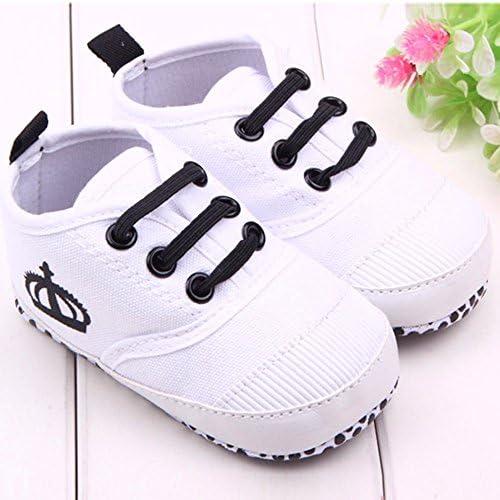 ❤️ Mealeaf ❤️ Newborn Baby Boys Girls Crib Prewalker Soft Sole Anti-Slip Sneakers Shoes(3M-12M)