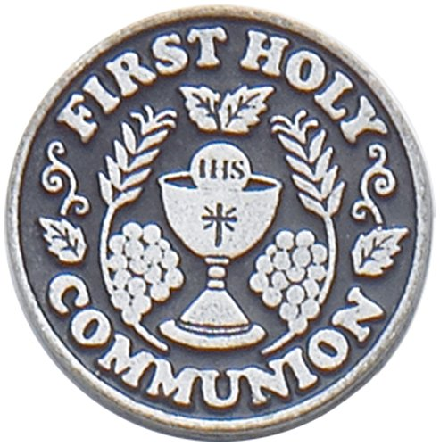Cathedral Art First Holy Communion Pewter Pocket Token, 1-Inch