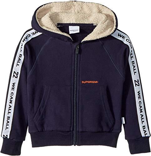 Pro Fleece Sherpa Jacket - SUPERISM Baby Boy's Clint Navy Full Zip Jacket (Toddler/Little Kids/Big Kids) Navy 7