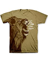 Jesus Lion All-Over Print Christian T-Shirt, Brown