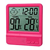 LCD Night Light Indoor Humidity Monitor Temperature Sensor Hygrometer Thermometer Outdoor Rose Thermometer/ Humidity Sensor