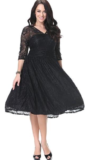Amazoncom Cx Trendy Womens Plus Size 34 Sleeve Lace