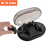 Truely Wireless Earbuds, Parihy Revolutionary Bluetooth 4.2 Sports Earpieces,24Hrs,Anti Dropout Sweatproof Earphones w/ 900mAh Charging Box,3D Sound Mini Twins Stereo Headphones for Iphone Smartphones