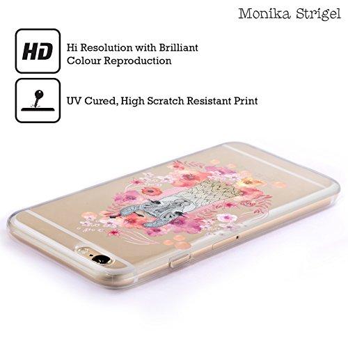 Officiel Monika Strigel Bébé Lama Animaux Et Fleurs 2 Étui Coque en Gel molle pour Apple iPhone 6 Plus / 6s Plus