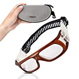 RIVBOS 1810 Safety Sports Glasses Protective Sports Goggles with Strap and Portable Case for Basketball Football Hockey Rugby Baseball Soccer Suitable for Men Women Kids Children Prescription Available (Red-1810)