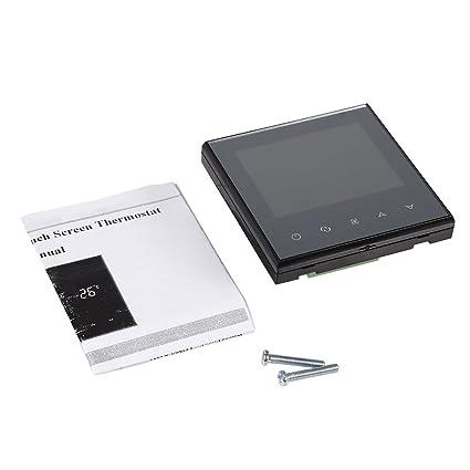 Termostato de Calefacción Digital Pantalla Táctil, Termostato de la habitación digital, termostato de la