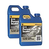 Miracle Sealants 511 Porous Plus Penetrating Sealer 64 Oz. Penetrating Sealer (2 Quarts) + Free Mira Brush Applicator and Tray by Miracle Sealants