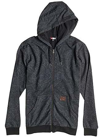 DC Mens Core Print Fleece Hoody Zip Sweatshirt, Bs Print Black, 2X-Large
