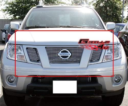 Nissan Frontier Grille Insert - APS Fits 09-19 Nissan Frontier Main Upper Billet Grille Insert #N66641A