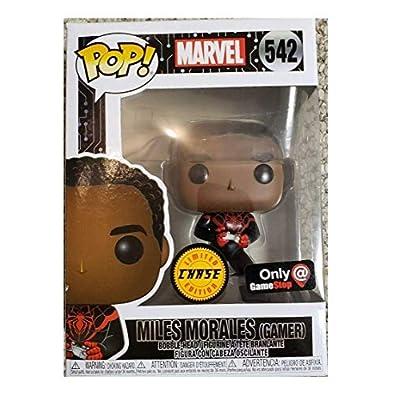 Funko Pop! Marvel Spider Man Gamer Miles Morales Unmasked Chase Exclusive: Toys & Games
